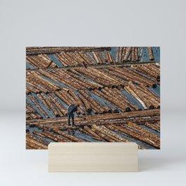 Lumber Worker with Axe Mini Art Print
