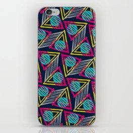 80s Sunset Triangle Pattern iPhone Skin