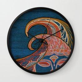 Zen Waves Surf Art by Lauren Tannehill Art Wall Clock