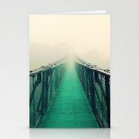 bridge Stationery Cards featuring suspension bridge by Sookie Endo