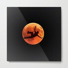 Breakdance on the moon Metal Print