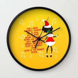 CURLY NIGHT (CHRISTMAS) Wall Clock
