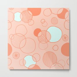 Coral Bubbles (with a hint of mint) Metal Print