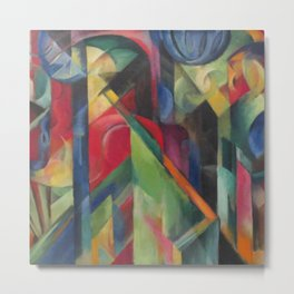 "Franz Marc ""Stables"" Metal Print"