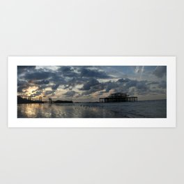 Brighton's West Pier Art Print