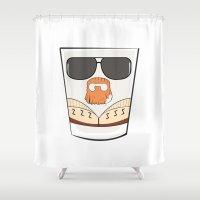 big lebowski Shower Curtains featuring THE BIG LEBOWSKI by Los Carlos