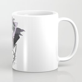Witch, Crows, Cat Skull, And All Seeing Eye Of Providence Coffee Mug