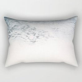 Sea foam - white and blue minimalistic photo of the ocean water Rectangular Pillow