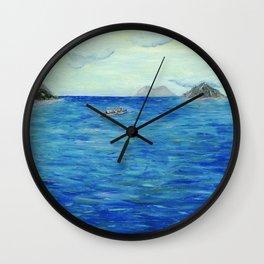 Old Hawaii 3 of 3 Wall Clock