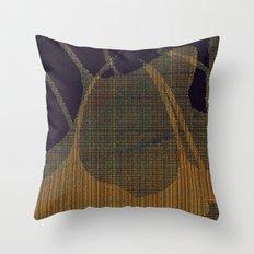 ginkgo biloba_plaid Throw Pillow