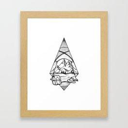 Life is an adventure Framed Art Print
