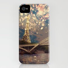 Love Wish Lanterns over Paris Slim Case iPhone (4, 4s)