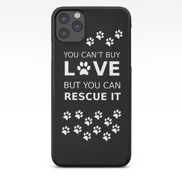 Animal rescue love iPhone Case