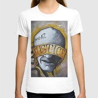 justice T-shirts featuring Justice by Tatstom48