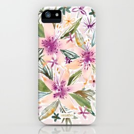 SMELLS LIKE INTOXICATION Lily Floral iPhone Case