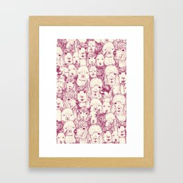just alpacas cherry pearl Framed Art Print