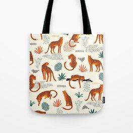 Seamless pattern with leopards Tote Bag