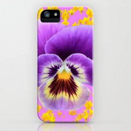 LILAC  PANSY SPRING DAFFODILS ART iPhone Case