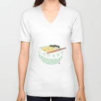 ramen V-neck T-shirts featuring Ramen. by k.b. doodles