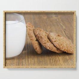 fresh milk and crispy Serving Tray