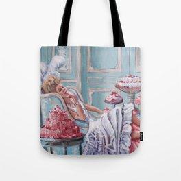 Marie Antoinette Eats Cake Tote Bag