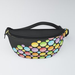 Rainbow Polka Dots Horizon Fanny Pack