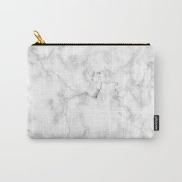 Marble White Grey Pattern Carry-All Pouch
