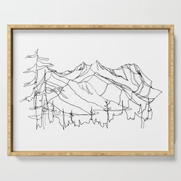 Squamish Summits :: Single Line Serving Tray
