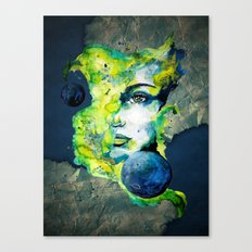 Esther Green (Set) by carographic watercolor portrait Canvas Print