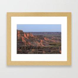 Sheep Mountain Table Catches Sunset Light Framed Art Print