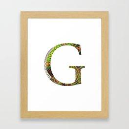 """Initial letter """"G"""" Framed Art Print"""
