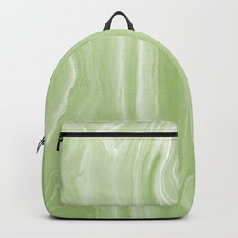 Marblesque Green 1 - Abstract Art Marble Series Backpack