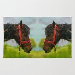 Horse with wild mane Rug