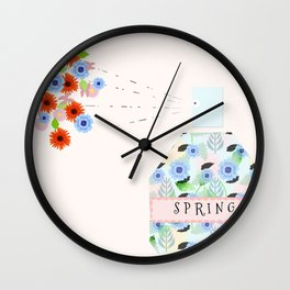 spring fragrances Wall Clock