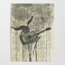 """GUITAR. A SERIES OF WORKS """"MUSIC OF THE RAIN"""" Poster"""