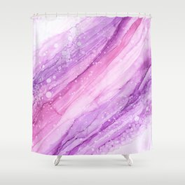 Pink Marble Vibes Shower Curtain