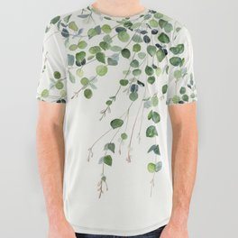 Eucalyptus Watercolor All Over Graphic Tee