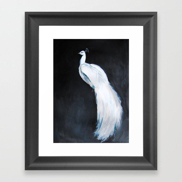 White Peacock II Gerahmter Kunstdruck