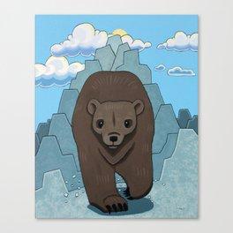 Bear Run Canvas Print