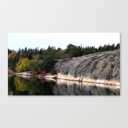 Fall Colors Accentuating Cliff Reflections Canvas Print