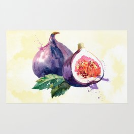 Fun with Fruits - Fig Rug