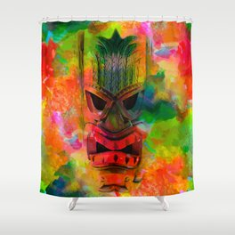 Tiki Kara Shower Curtain