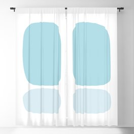 Blue & White Mid Century Modern Abstract Blackout Curtain