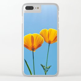 Poppy Daydream Clear iPhone Case