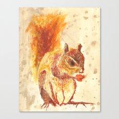 Squirrel Monster Canvas Print