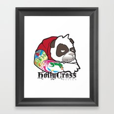 Cranky Panda Framed Art Print