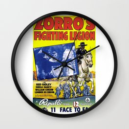 Vintage Movie Posters, Zorro's Fighting Legion Wall Clock