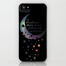 Stars I can't fathom into constellations iPhone Case