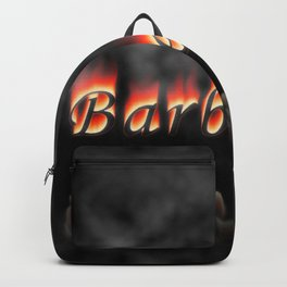 Barbeque Text On Fire Backpack