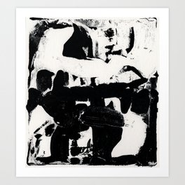 Abstract Black and white print Art Print